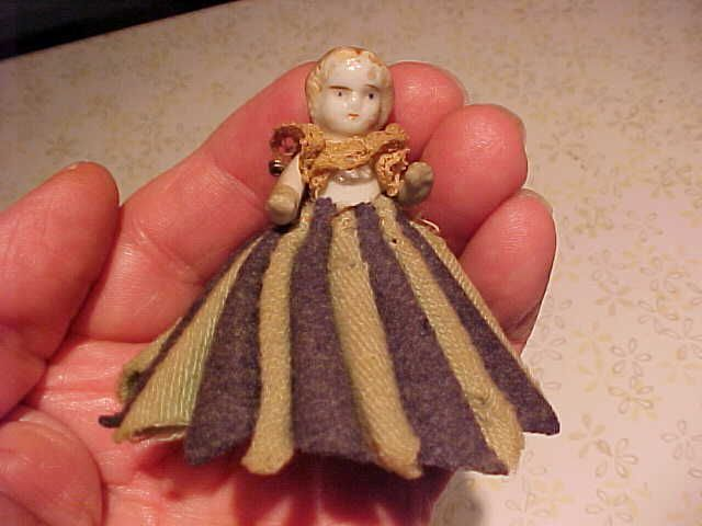 Vintage Old Antique Wool Felt Dip Nib Fountain Pen Wipe Bisque Doll Back Number