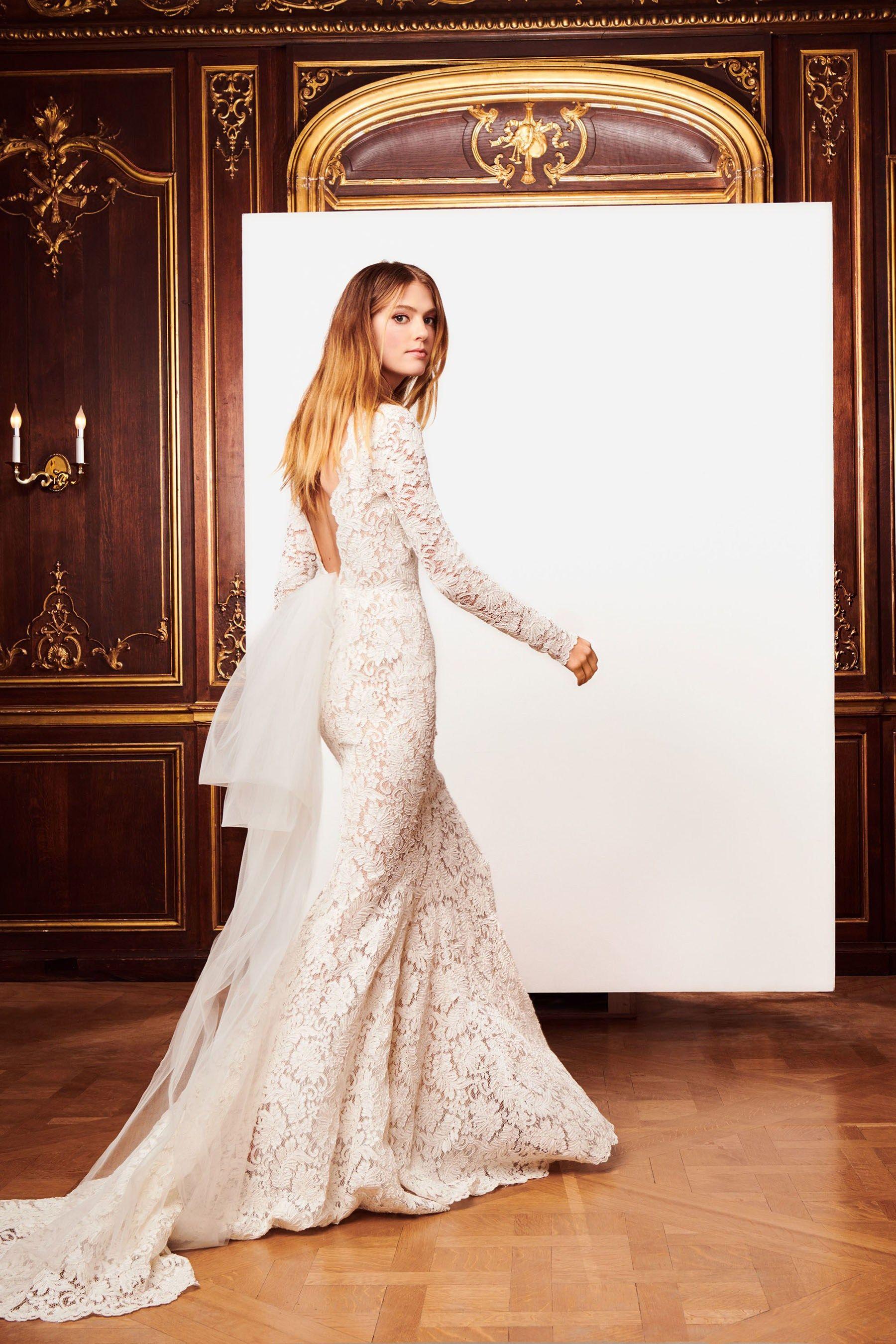 Braut kollektion Oscar de la Renta Herbst 2018: romantik und glamour ...