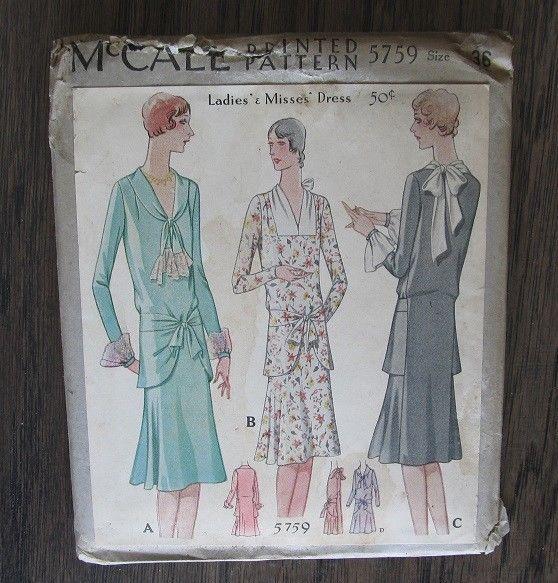 Late 1920s McCall #5759