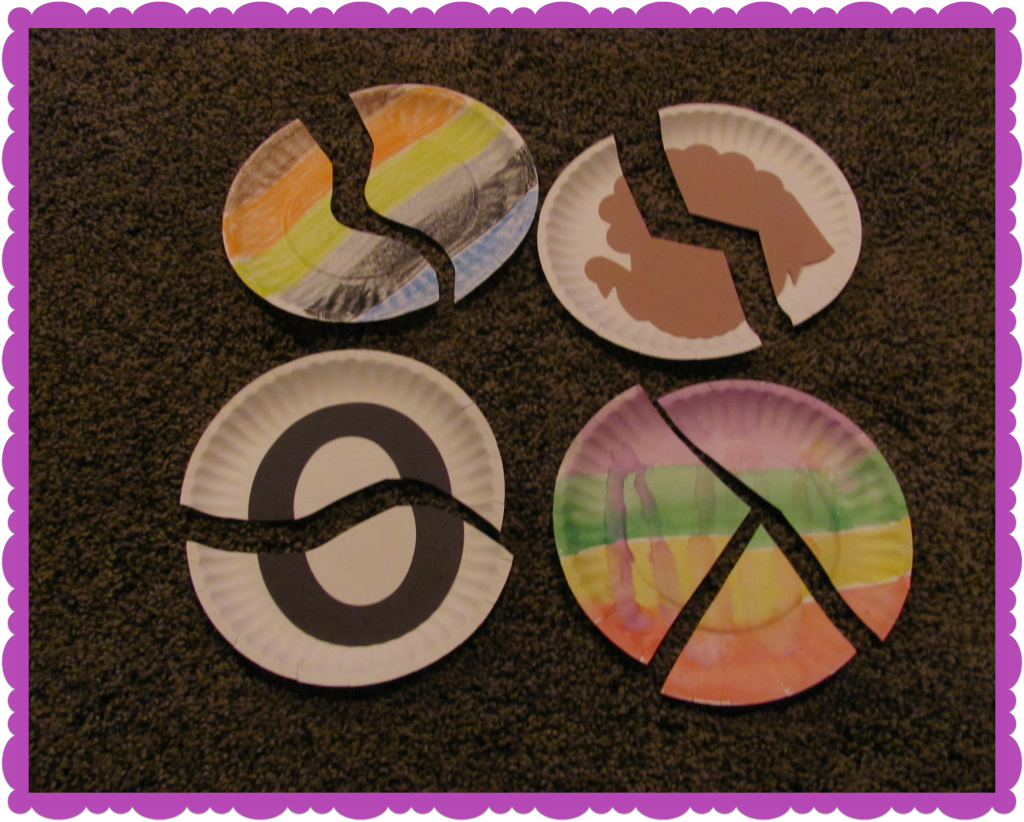 Paper Plate Puzzles