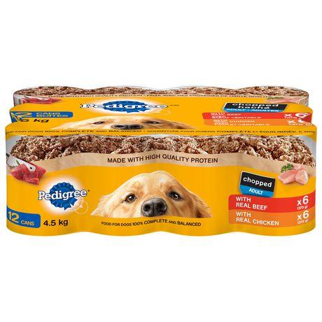 Pedigree Wet Dog Food Chopped Ground Dinner Variety Pack Beef