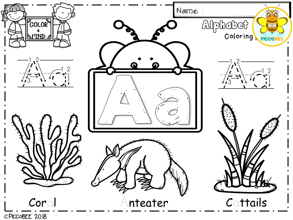 Alphabet-Coloring Pages