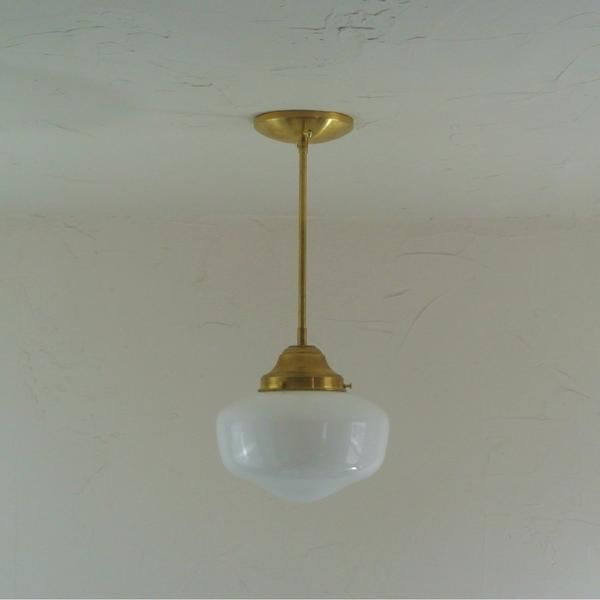 Large opal schoolhouse pendant light pepeandcarols home large opal schoolhouse pendant light with rod extension this larger size shade is great as statement lighting over the kitchen island or in the entry way aloadofball Gallery