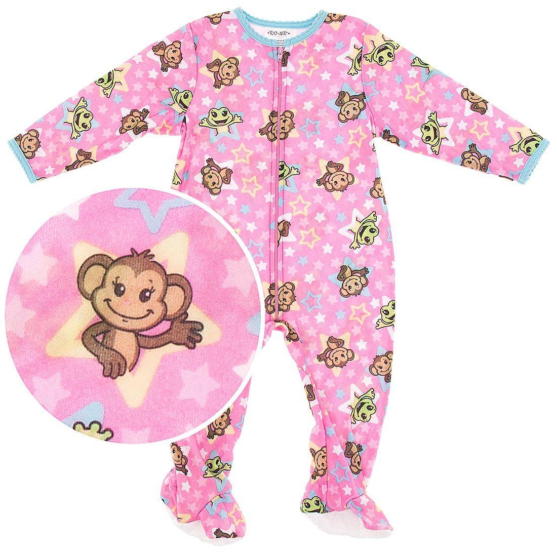 Blanket Sleepers, Footed Pajamas for Toddler Girls | Toddler girl, Footie  pajama, Pink monkeys
