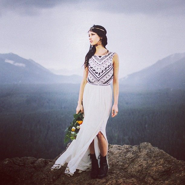For those who have asked about my wedding dress, it's @marahoffman for @freepeople. I bought it online on a whim (!) and will forever be glad I did. Thank you so much for all the kindness!  Photo by the amazing @benjhaisch.