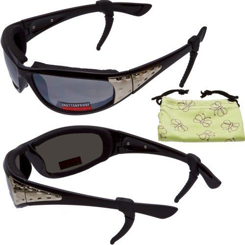 13026ab581 Viva Motorcycle Riding Padded Glasses Fits Small Faces Women Metal Side  Accented Sunglasses