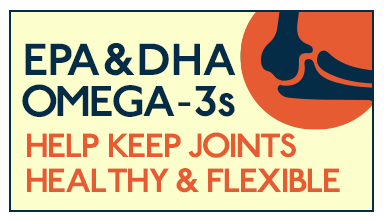 Omega-3s help joints stay healthy and flexible in adults of all ages.