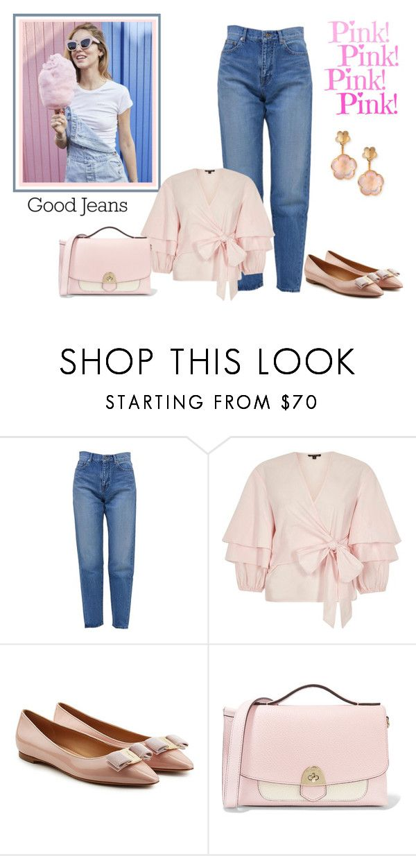 """""""Cotton Candy"""" by sjlew ❤ liked on Polyvore featuring Yves Saint Laurent, River Island, Salvatore Ferragamo, Mallet & Co and Pasquale Bruni"""