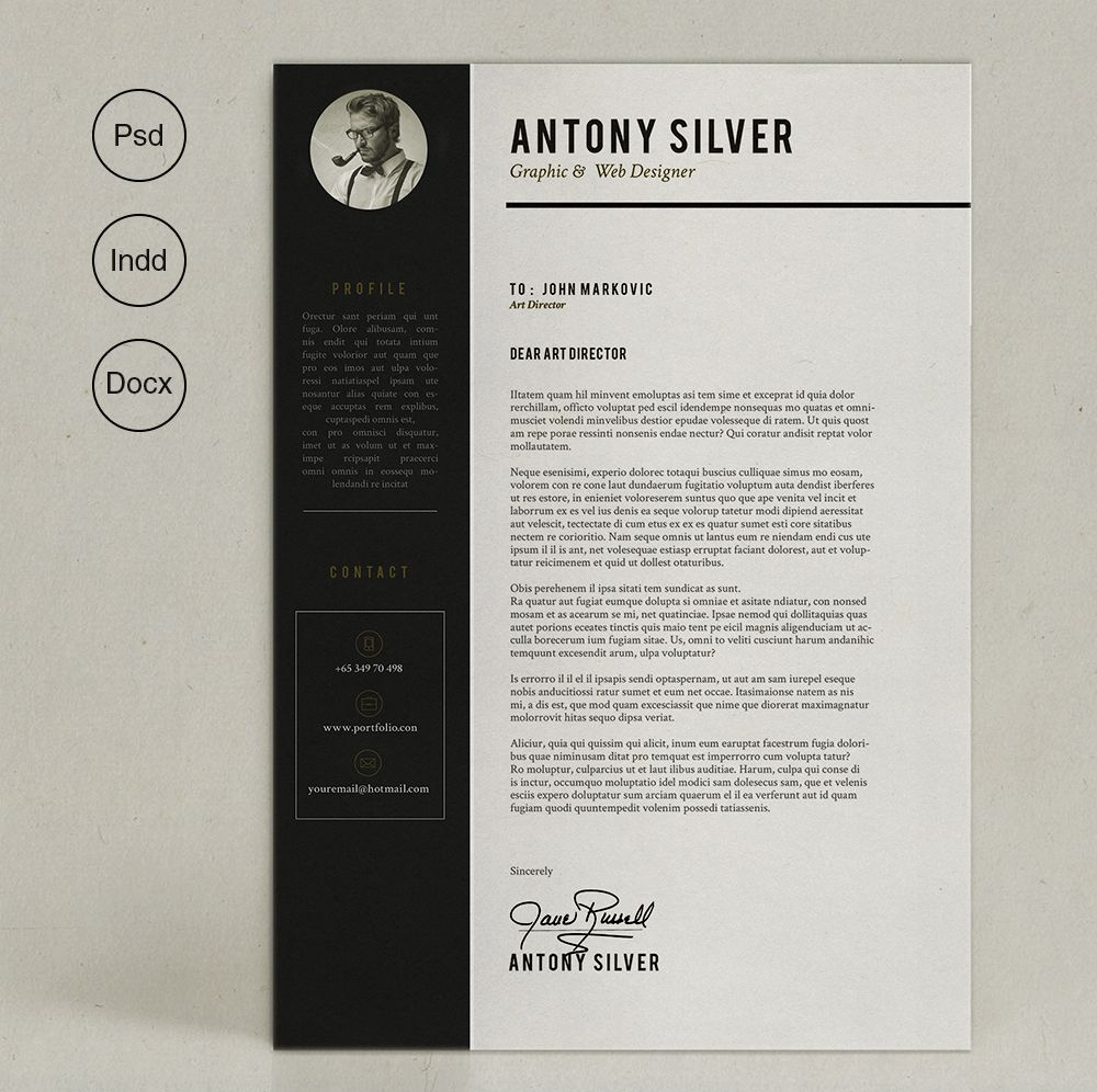 Pro Resume By Sz On Creative Market  Portfolio Design