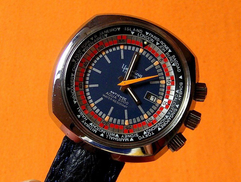 1970's Yearling Aqua 2000. Funky watches, Vintage