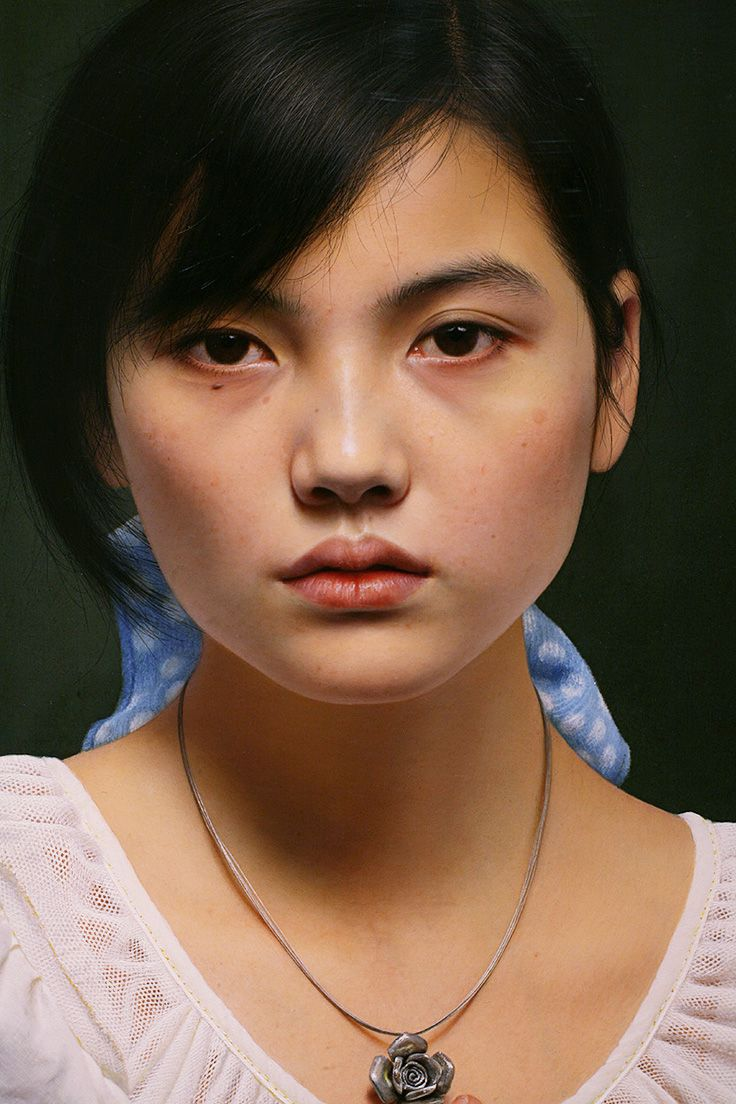 Artist Leng Jun 冷军 {contemporary realism art female head