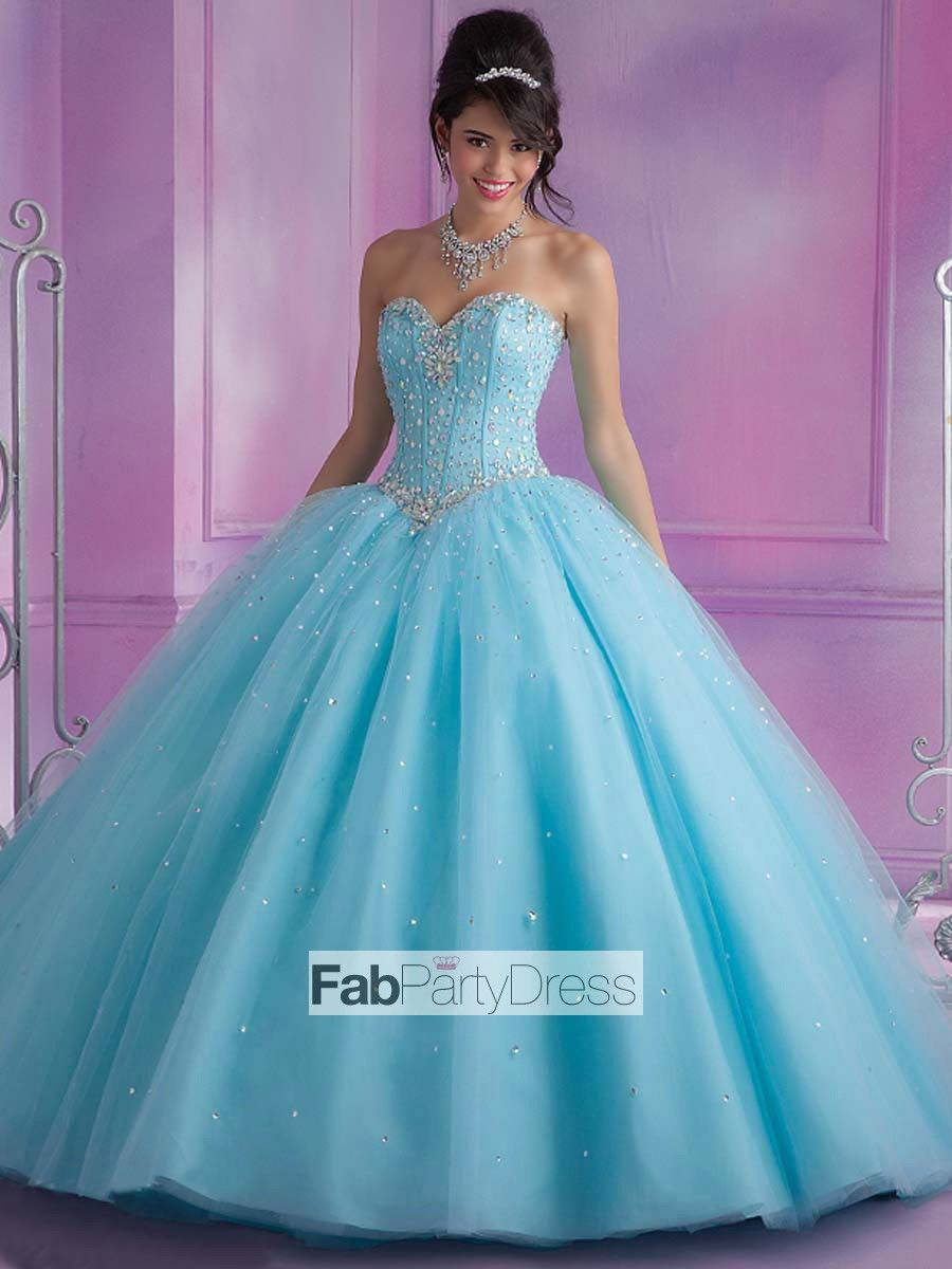 Ball Gown Beading Tulle Prom Dresses / Evening Dresses | Pageant ...