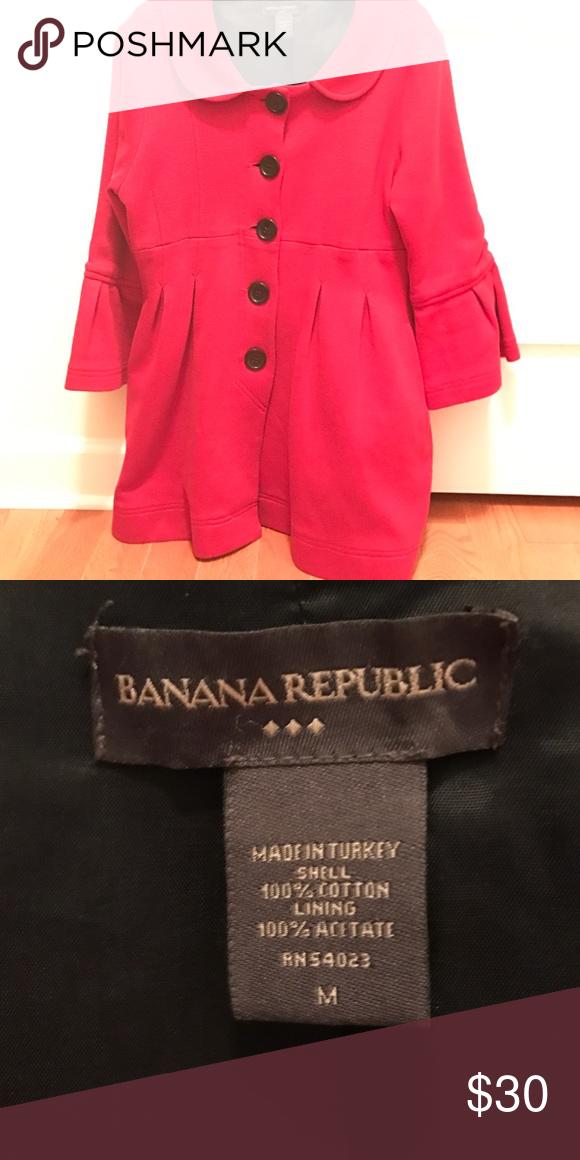 Coat Red Banana Republic 3/4 sleeves Banana Republic Jackets & Coats Pea Coats
