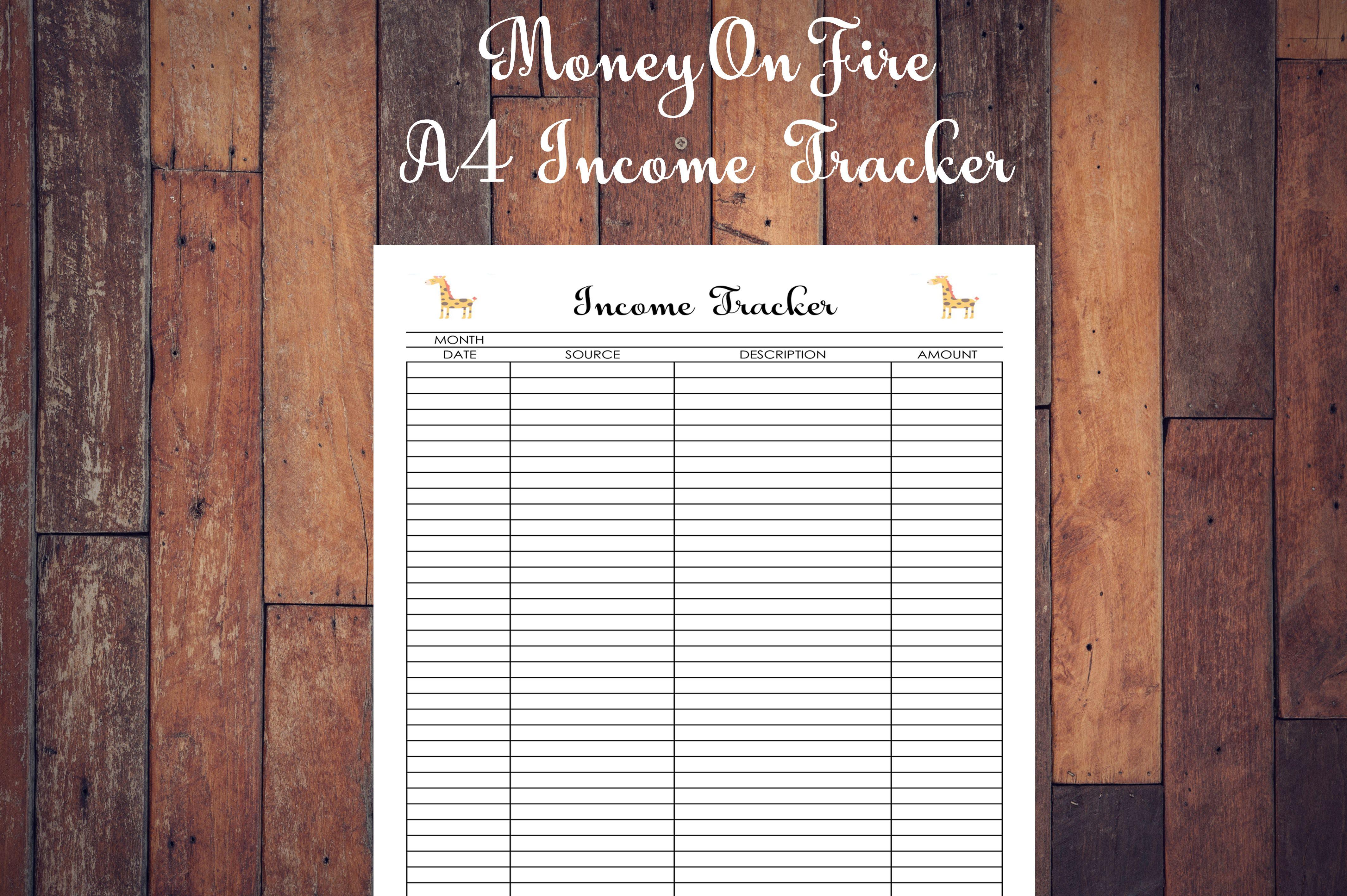 Income Tracker Printable Printable Etsyshop Etsyseller