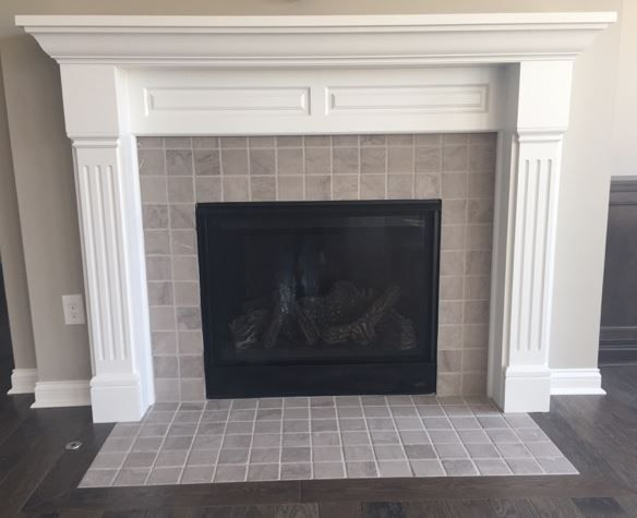 Marble Silver Screen M744 4x4 Tile With Flushed Hearth