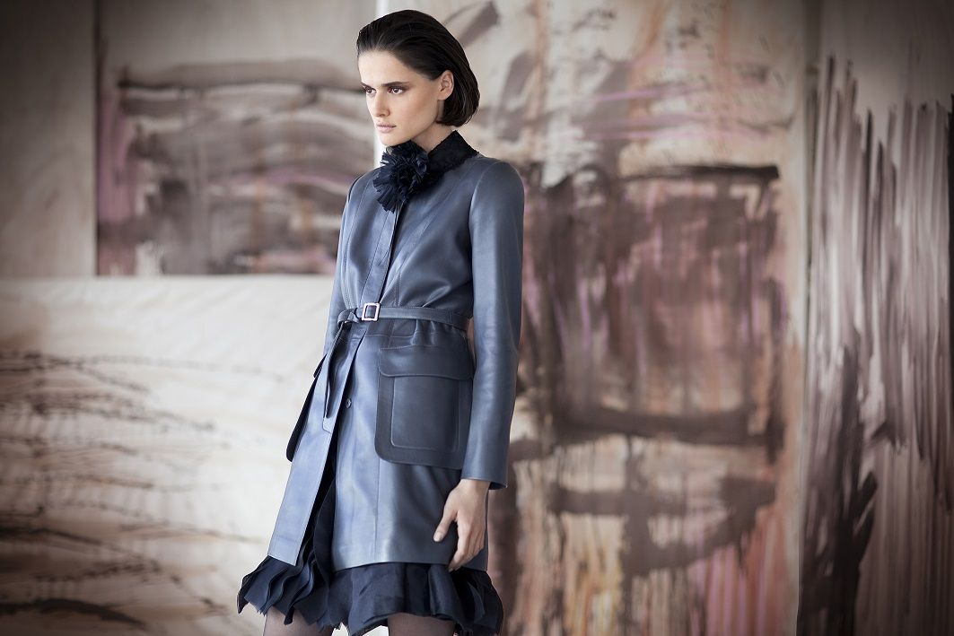 Perfect leather coat Mira Zwillinger bespoke leather wear