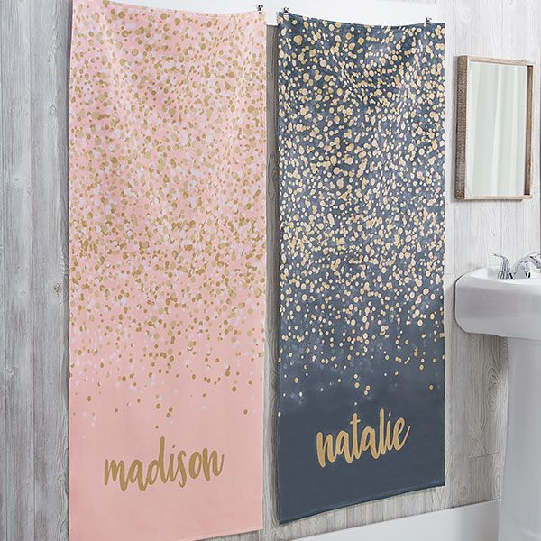 Personalized Bath Towels Sparkling Name In 2019 Products