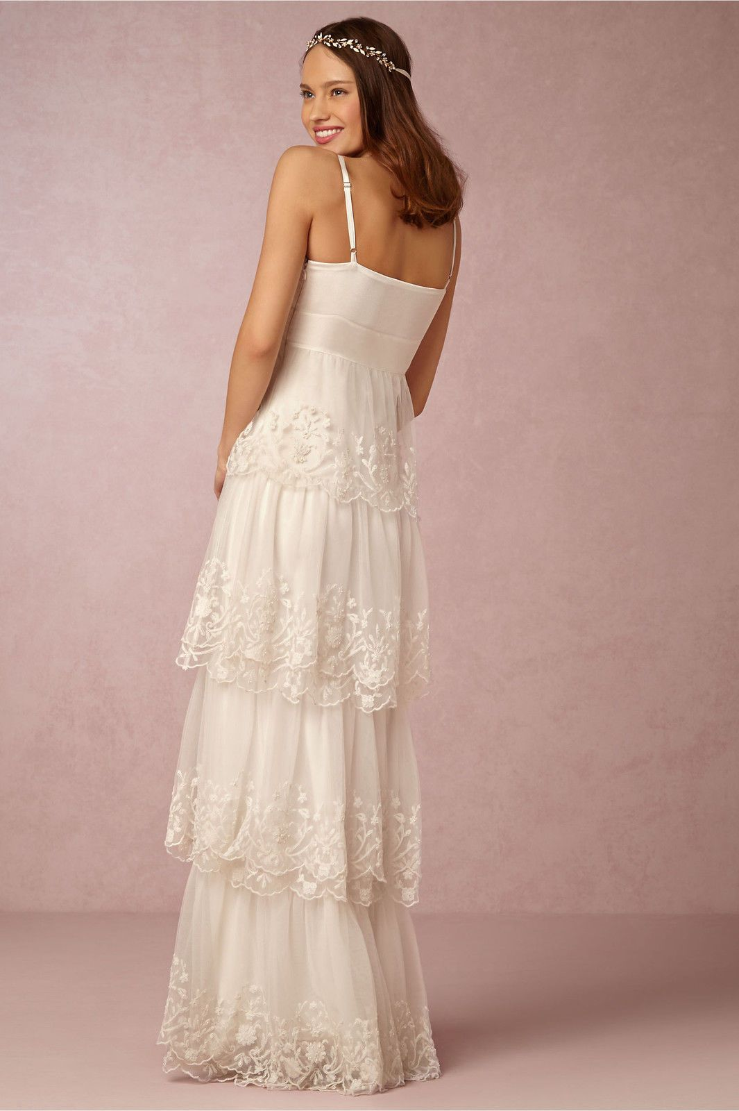 NR Wedding Dress CANDELA Tiered Beaded Scalloped Lace Bridal Gown ...