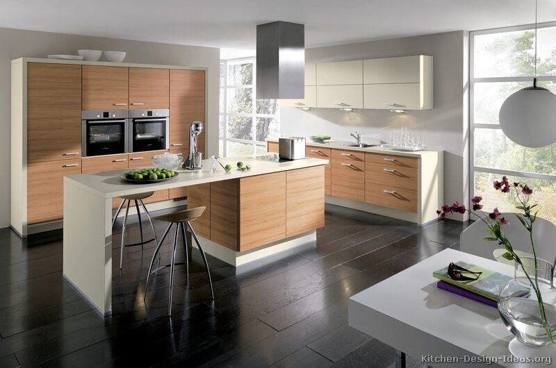 Modern Light Wood Kitchen Cabinets #TT170 (Alno.com, Kitchen Design