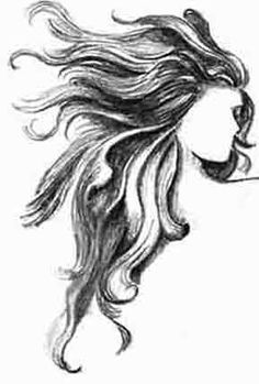 Flowing Hair Drawing Google Search Hair Illustration How To Draw Hair Pencil Drawings Of Flowers