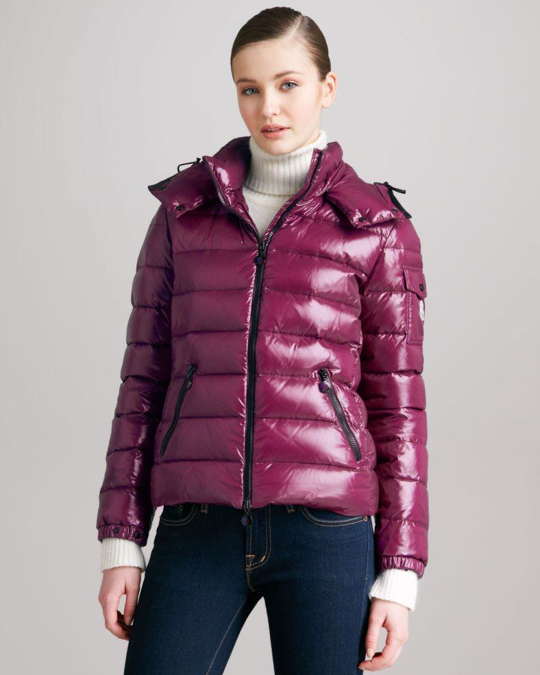 Purple Moncler 'Bady' down jacket
