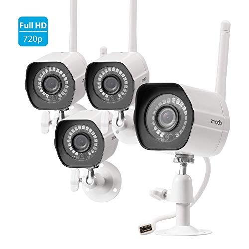 Zmodo Wireless Security Camera System (4 Pack) , Smart