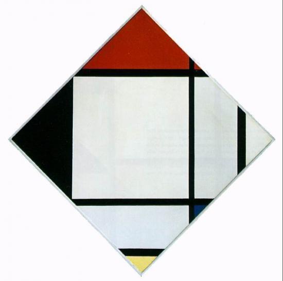 Rouge bleu et noir 1957 oeuvre de