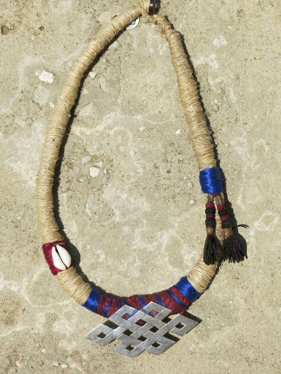 Nepali hay necklace with eternity sign by EthnicTree on Etsy, $110.00