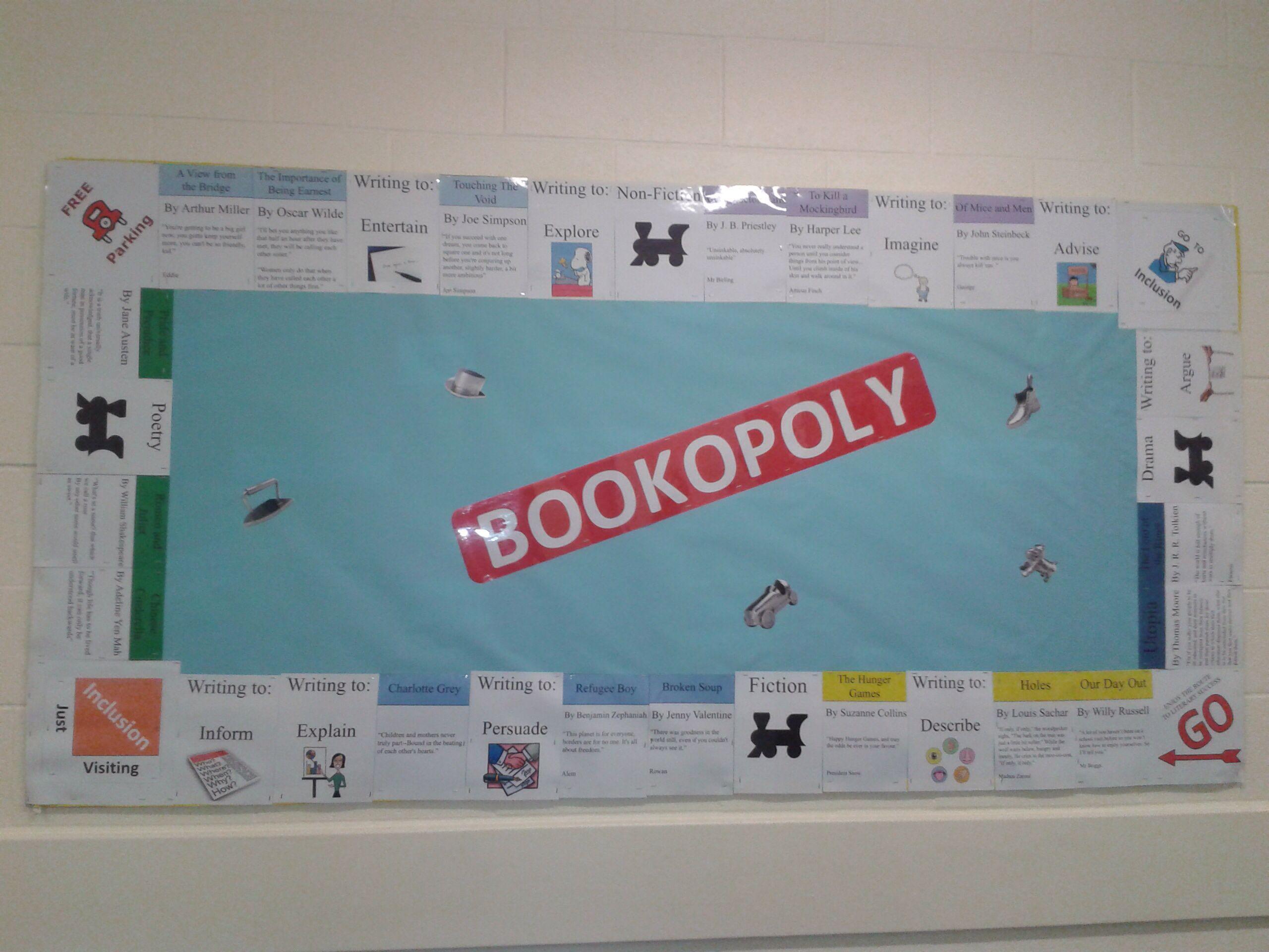 My uk version of secondary curriculum bookopoly display