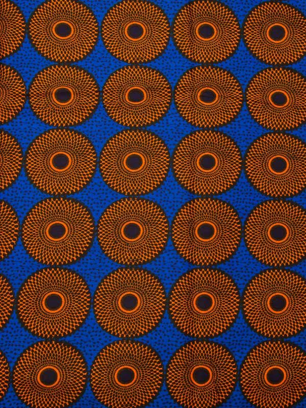tissu africain bleu et blanc