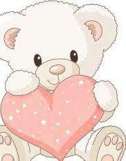 dibujos de osos con corazones para regalar  Osos Dibujos