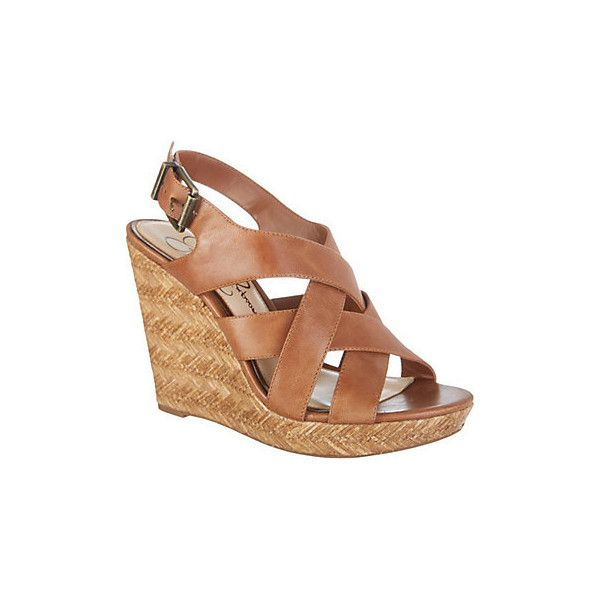 Jessica Simpson Womens Jamallo Wedge Sandals (1 485 UAH) ❤ liked on Polyvore featuring shoes, sandals, brown, jessica simpson sandals, wedge shoes, strappy wedge sandals, wood wedge sandals and ankle strap wedge sandals