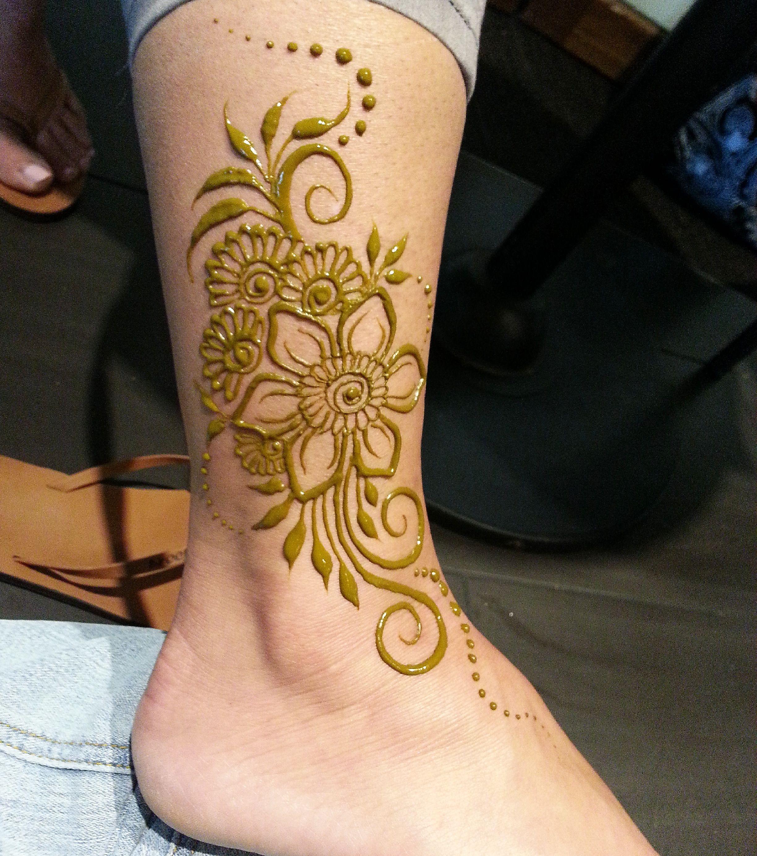 Natural Henna Anklet For Spring Henna Designs Feet Legs Mehndi