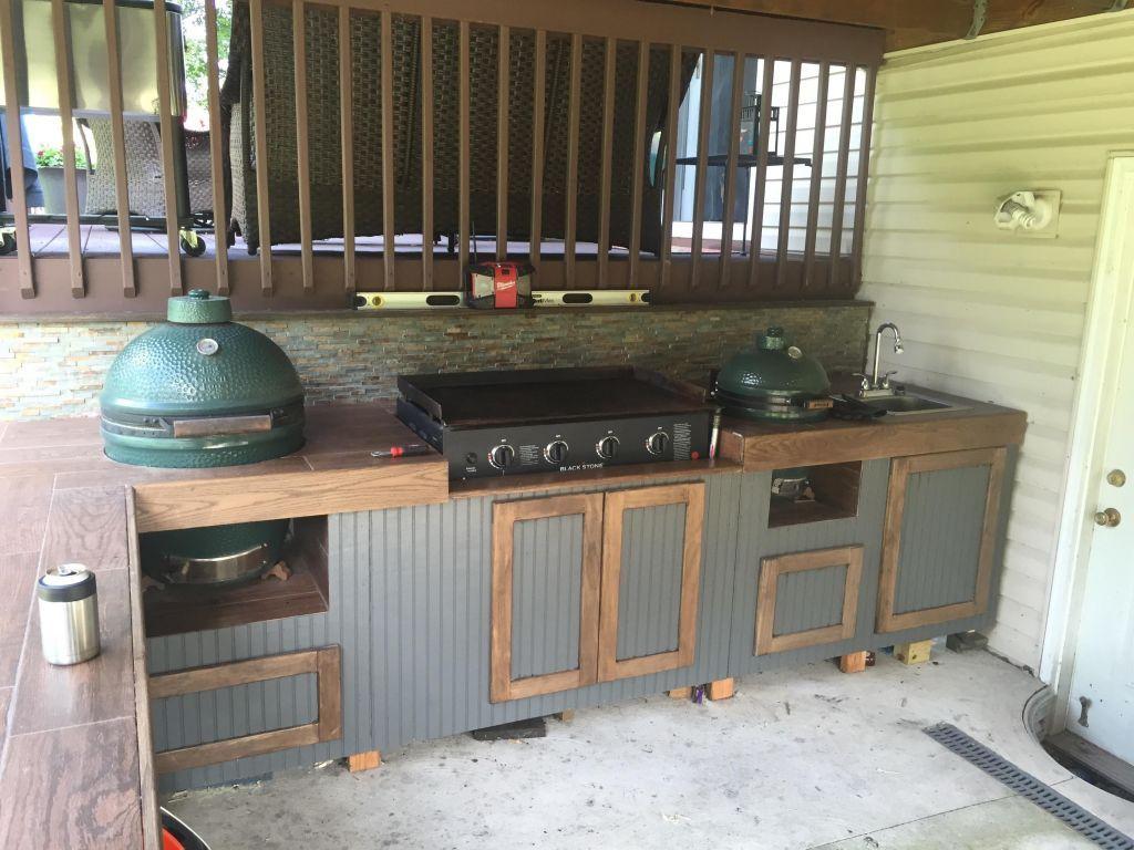 Custom Built Outdoor Kitchens Best Of Blackstone Griddle Outdoor Kitchen Outdoor Ideas Bomel Simple Outdoor Kitchen Outdoor Kitchen Decor Diy Outdoor Kitchen
