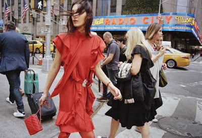 Women Fashion Girls Dress: Accogliente swan Hadid for Elle by Dan Martensen