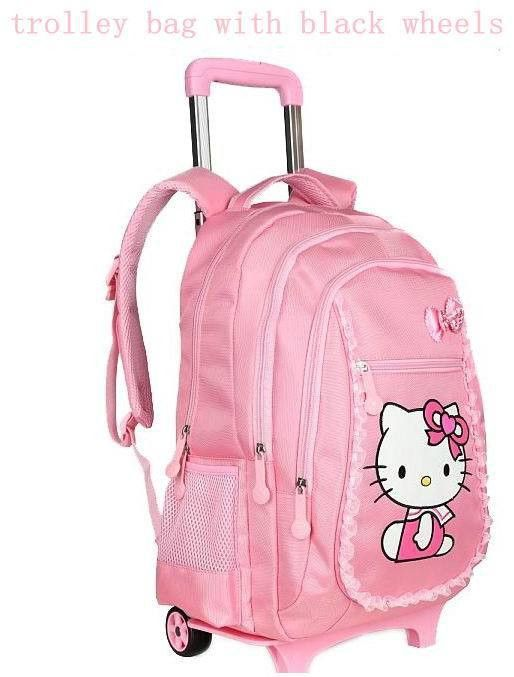 1dbb4be71a8d Hello kitty school bags for girls rolling children backpack travel trolley  bag school backpacks wheels bolsas mochilas femininas
