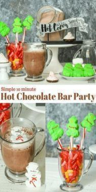 New Holiday Party Ideas For Kids Hot Chocolate 63 Ideas,  #Chocolate #Holiday #h…
