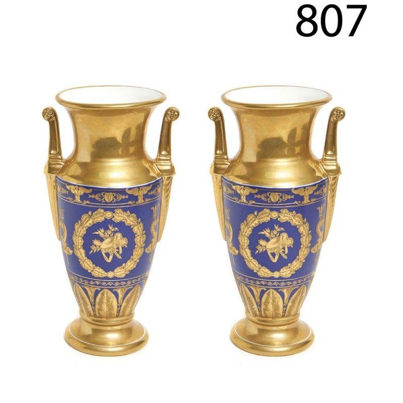 LOTE : 807 - Pareja de jarrones estilo I