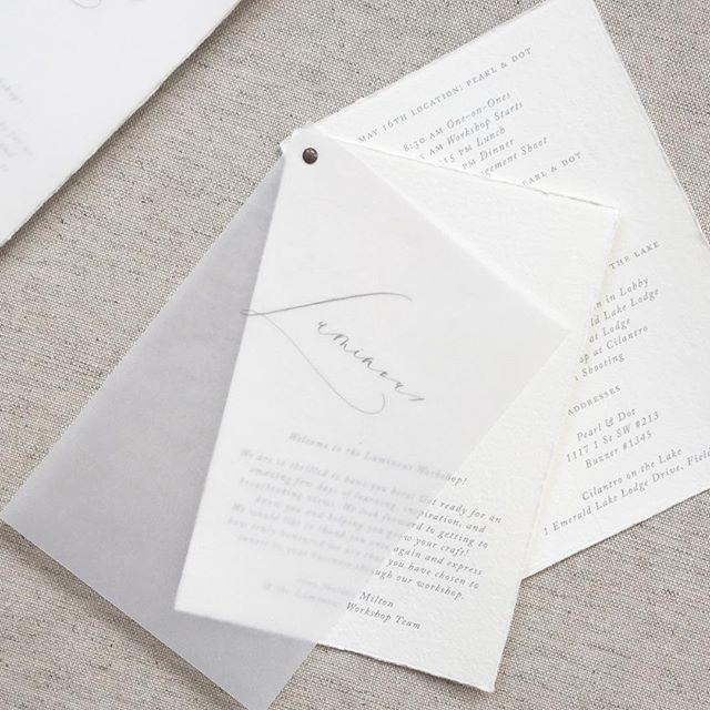 Vellum minimal design programs for luminous the workshop designed vellum minimal design programs for luminous the workshop designed by plume calligraphy wedding programsmodern wedding programinvitation stopboris Choice Image