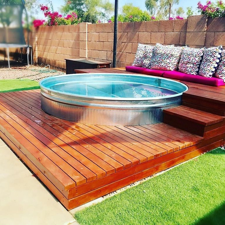 30 Small Backyard Landscaping Ideas On A Budget: 30+ Creative Stock Tank Pool To Save Land