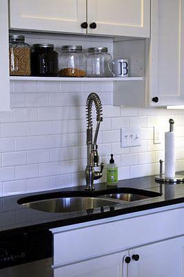 Subway Tile Backsplash Undermount 1 5 Sink For The Home
