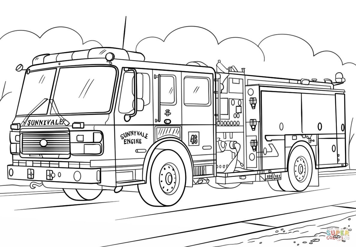 22 Awesome Image Of Fire Truck Coloring Page Davemelillo Com Firetruck Coloring Page Truck Coloring Pages Monster Truck Coloring Pages