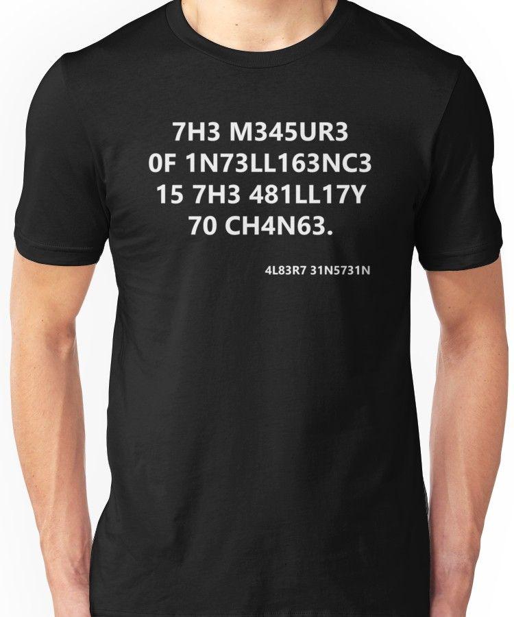cdc421c08 Intelligence Unisex T-Shirt in 2019 | Products | T shirt, Shirts ...