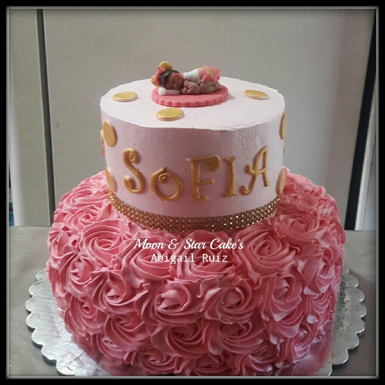 Pastel Baby Shower Ni A Baby Shower Girls Cake En Crema Nogales  # Muebles Nogales Sonora