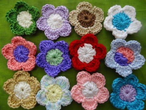 SariasKnitNCrochet.Com: Easy Crochet 5 Petal Flower | Kreatív hobbi ...