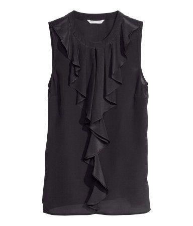 Black silk blouse | H&M DK