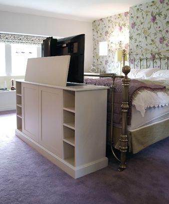 End Of Bed Tv Cabinet Tv Raised Tv In Bedroom Bedroom Tv Stand