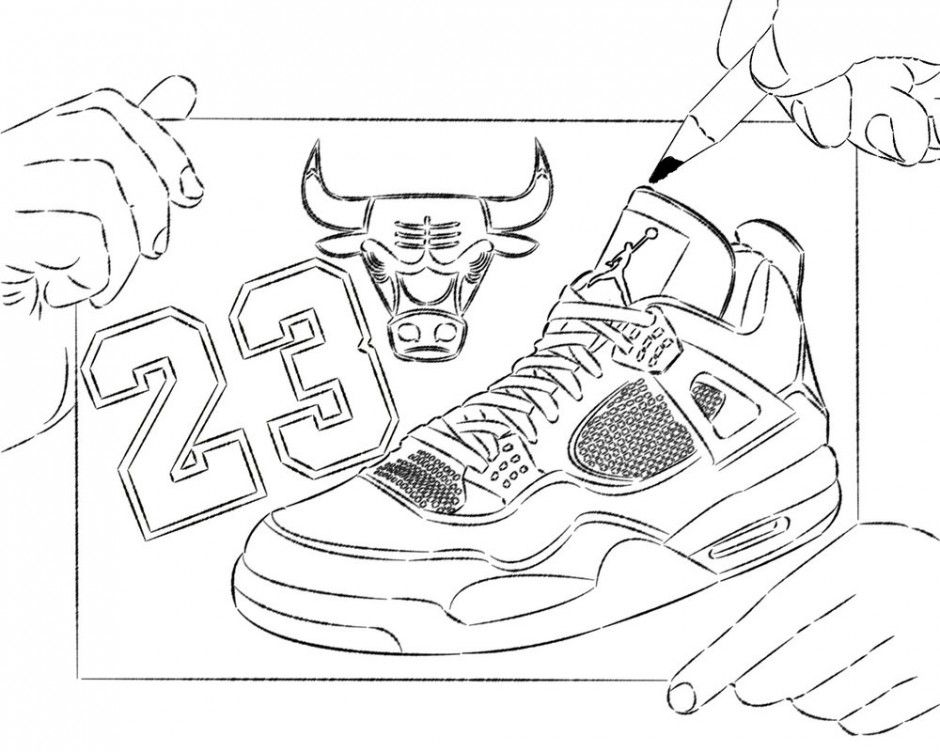 Jordan Shoe Coloring Sheet