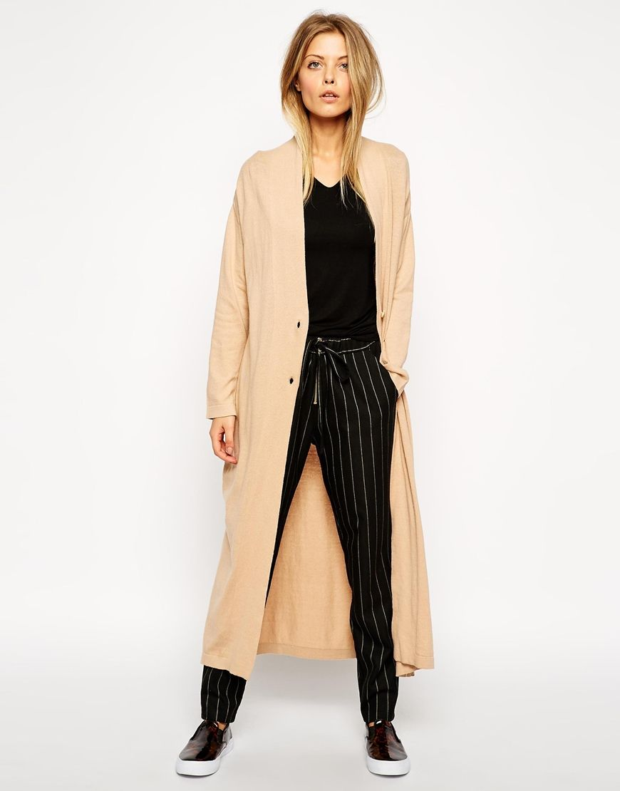 Asos petite longline oversize cardigan in camel | P C K S ...
