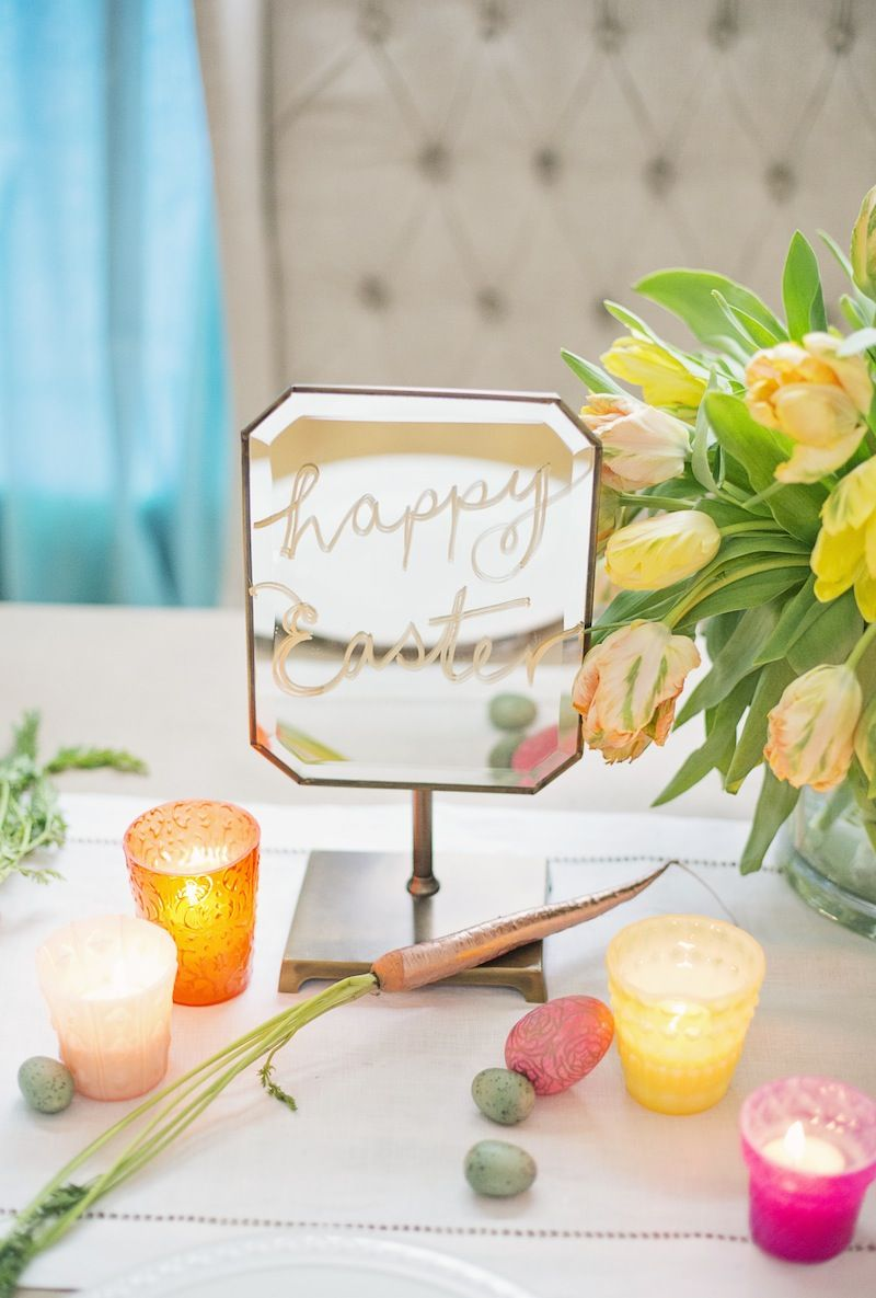 A DIY Colorful Easter Dinner Party from | Happy easter, Easter and ...